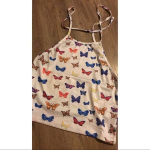 Butterfly around the neck tank top